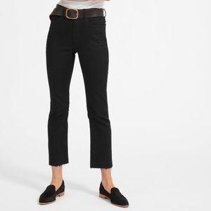 EVERLANE black jeans ripped hem sz27 regular